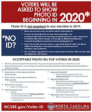 thumbnail image of PDF Flyer on photo ID requirements for the 2020 elections.