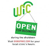 WIC open in shutdown