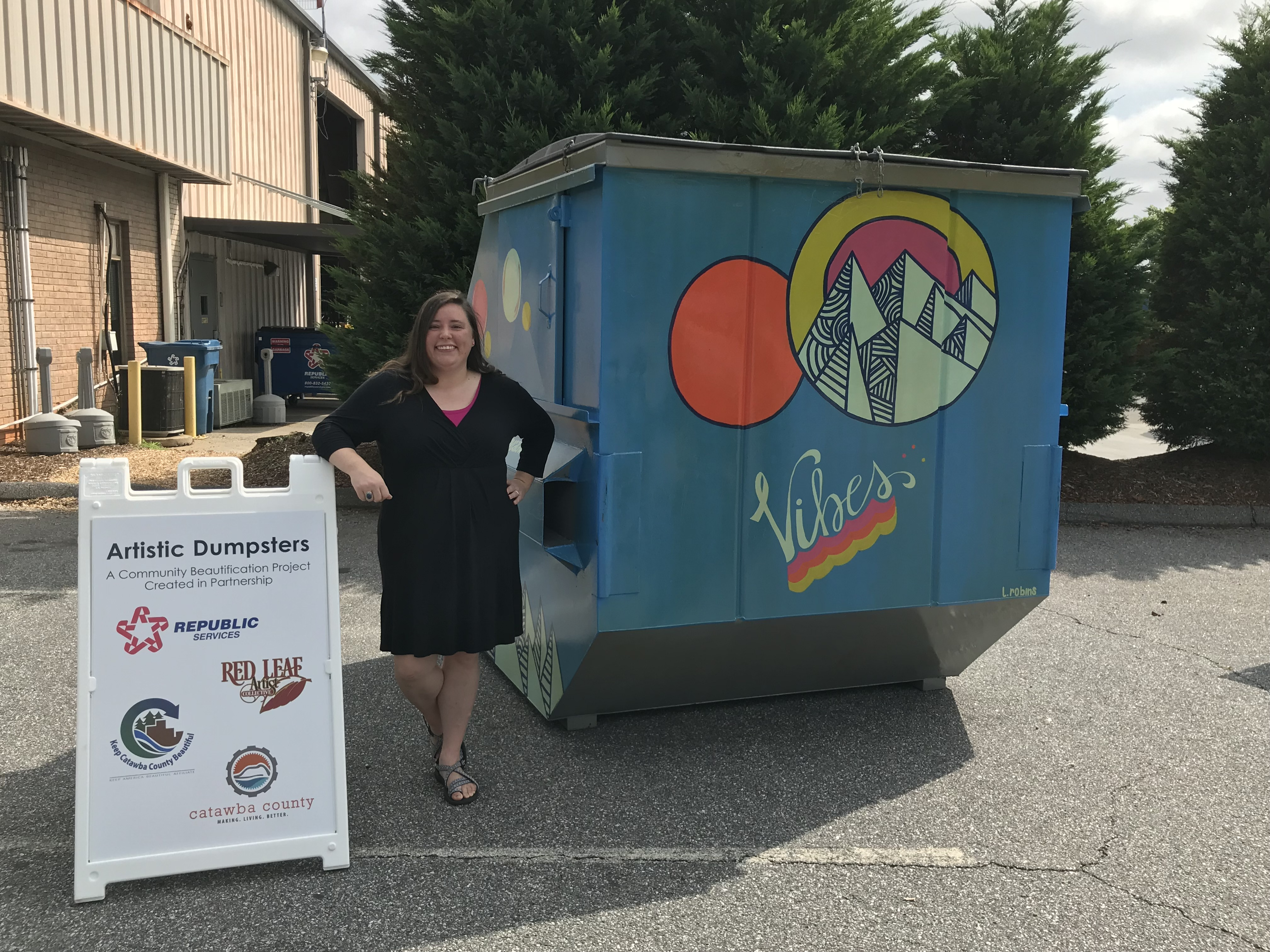 Dumpster Art Project Unveiled to Community