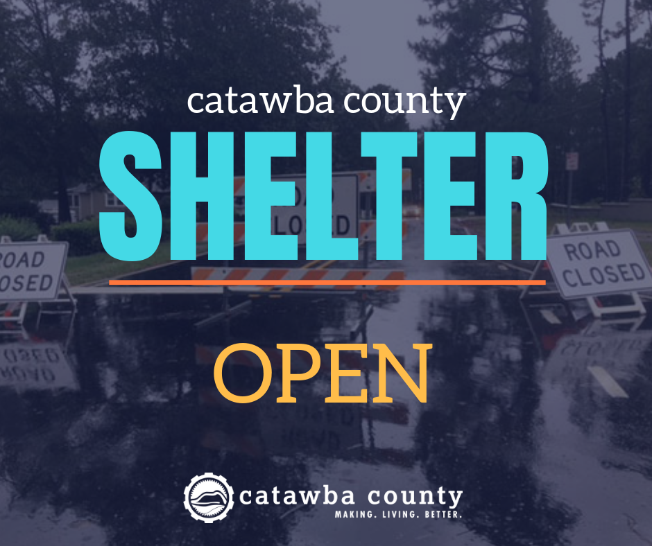 Catawba County Relocates Residents, Opens Shelter