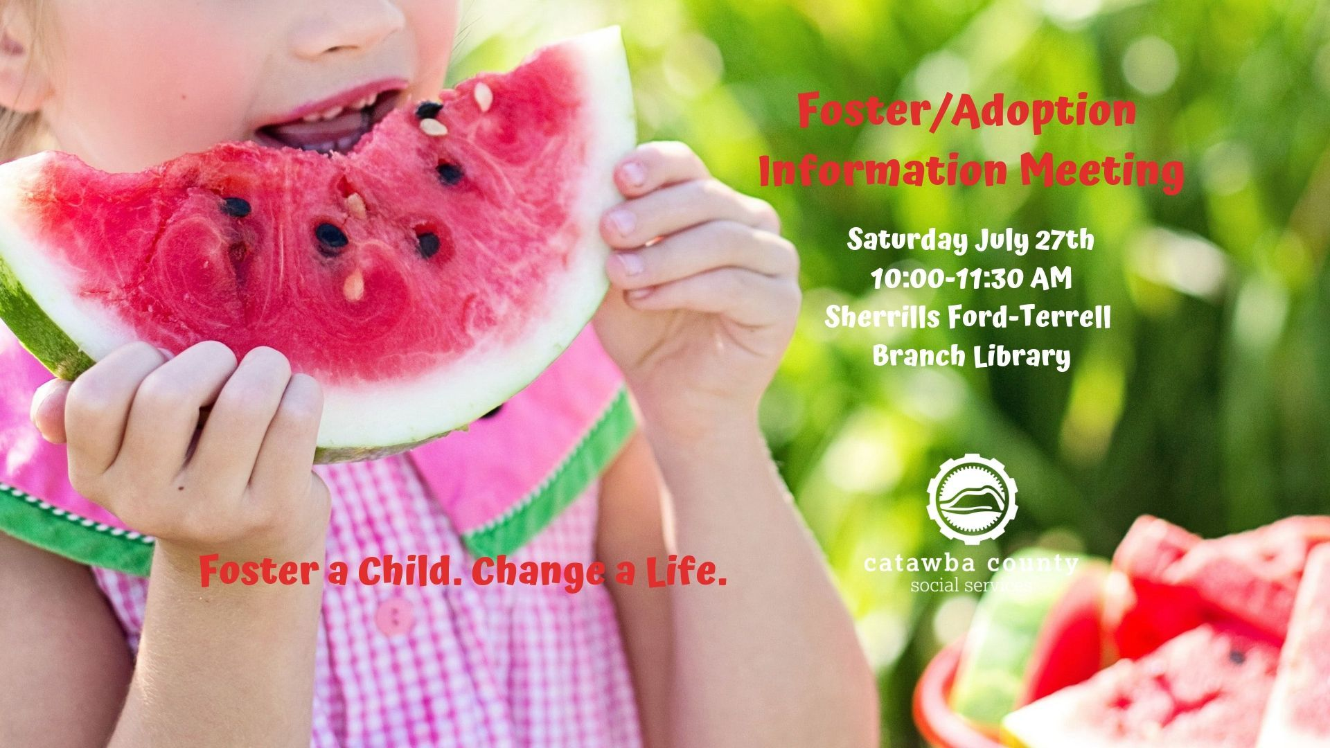 Foster/Adoption Saturday Info Meeting 7-27-19