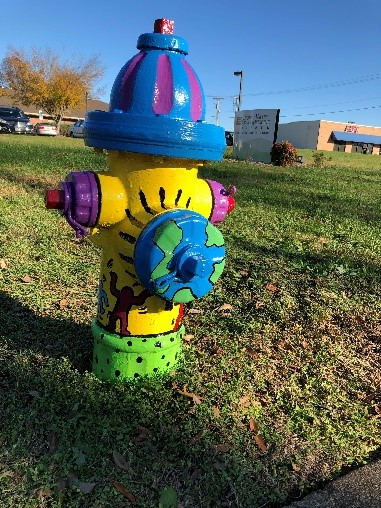 Maiden High School Art Club Transforms Fire Hydrants, Helps Beautify Downtown Maiden