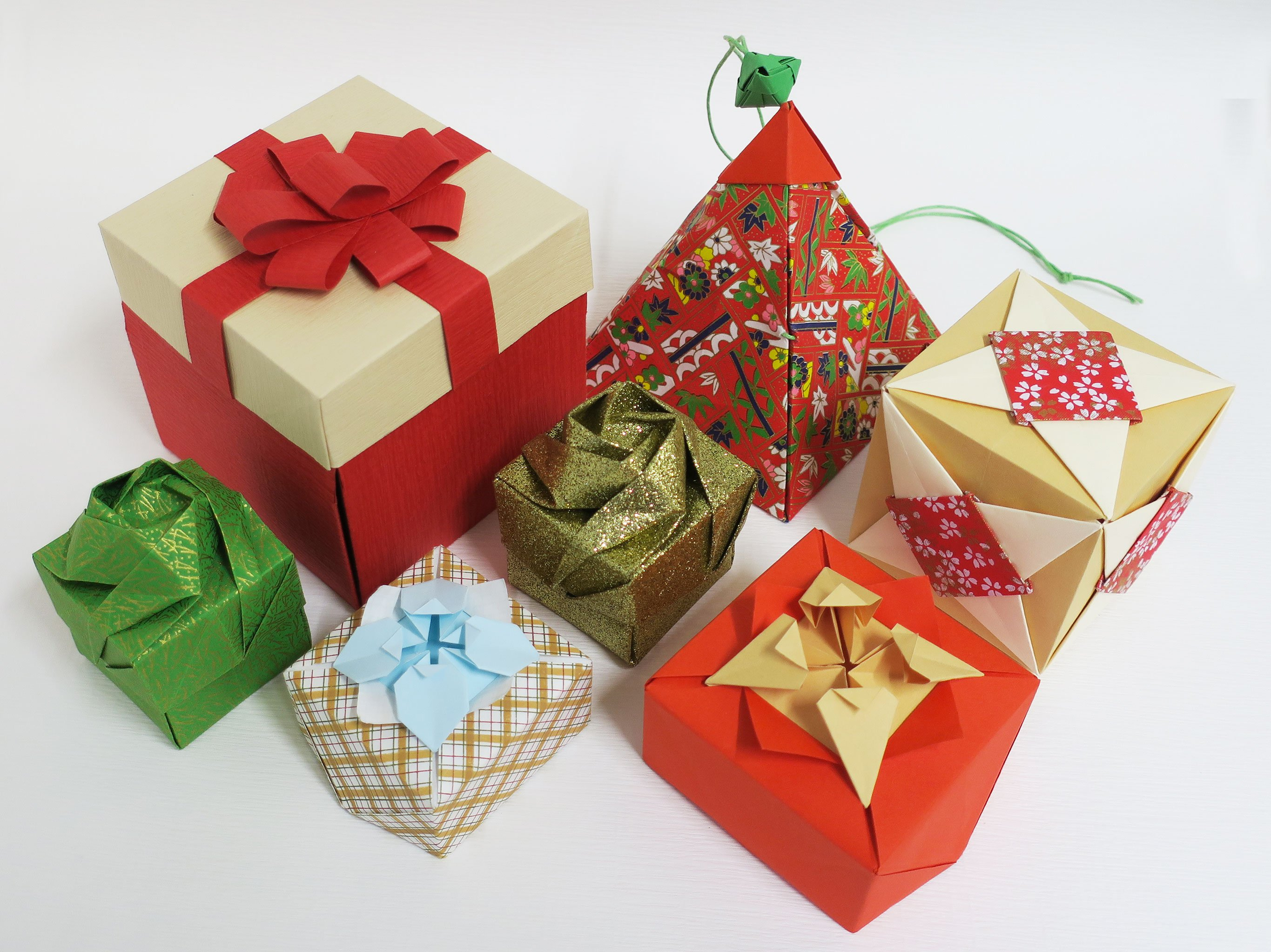 Make an Origami Christmas Package