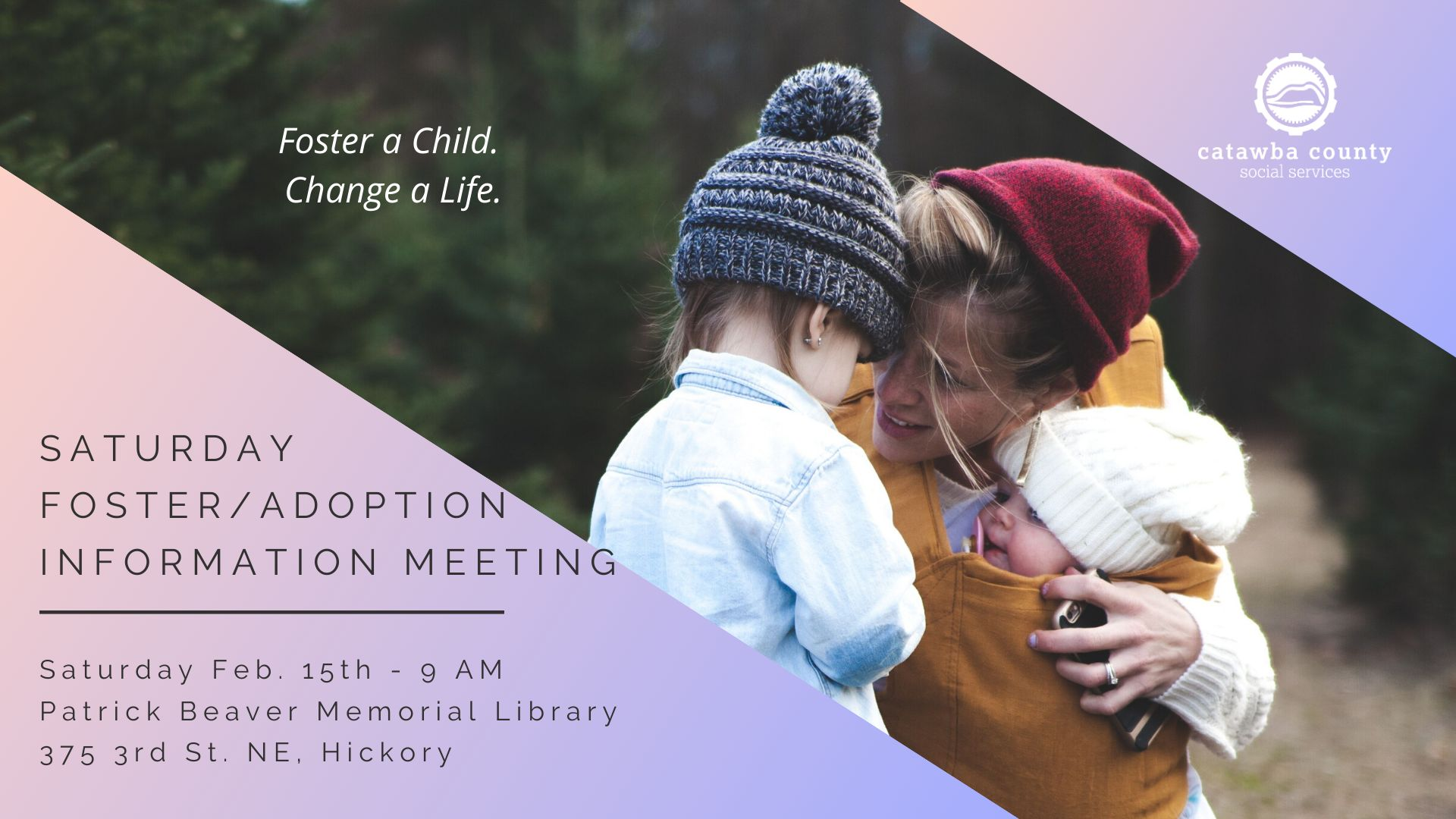 Saturday Foster/Adoption Information Meeting 2-15-20