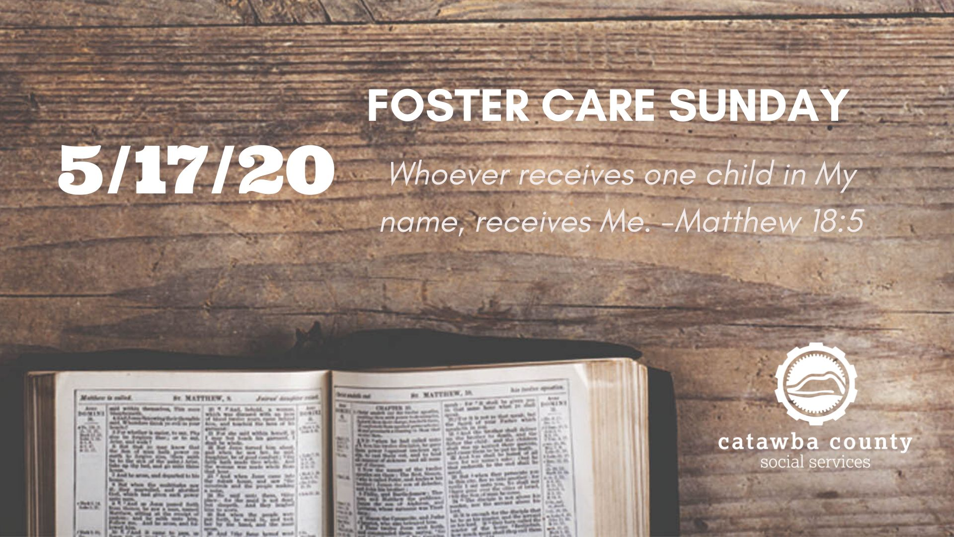 Foster Care Sunday May 2020