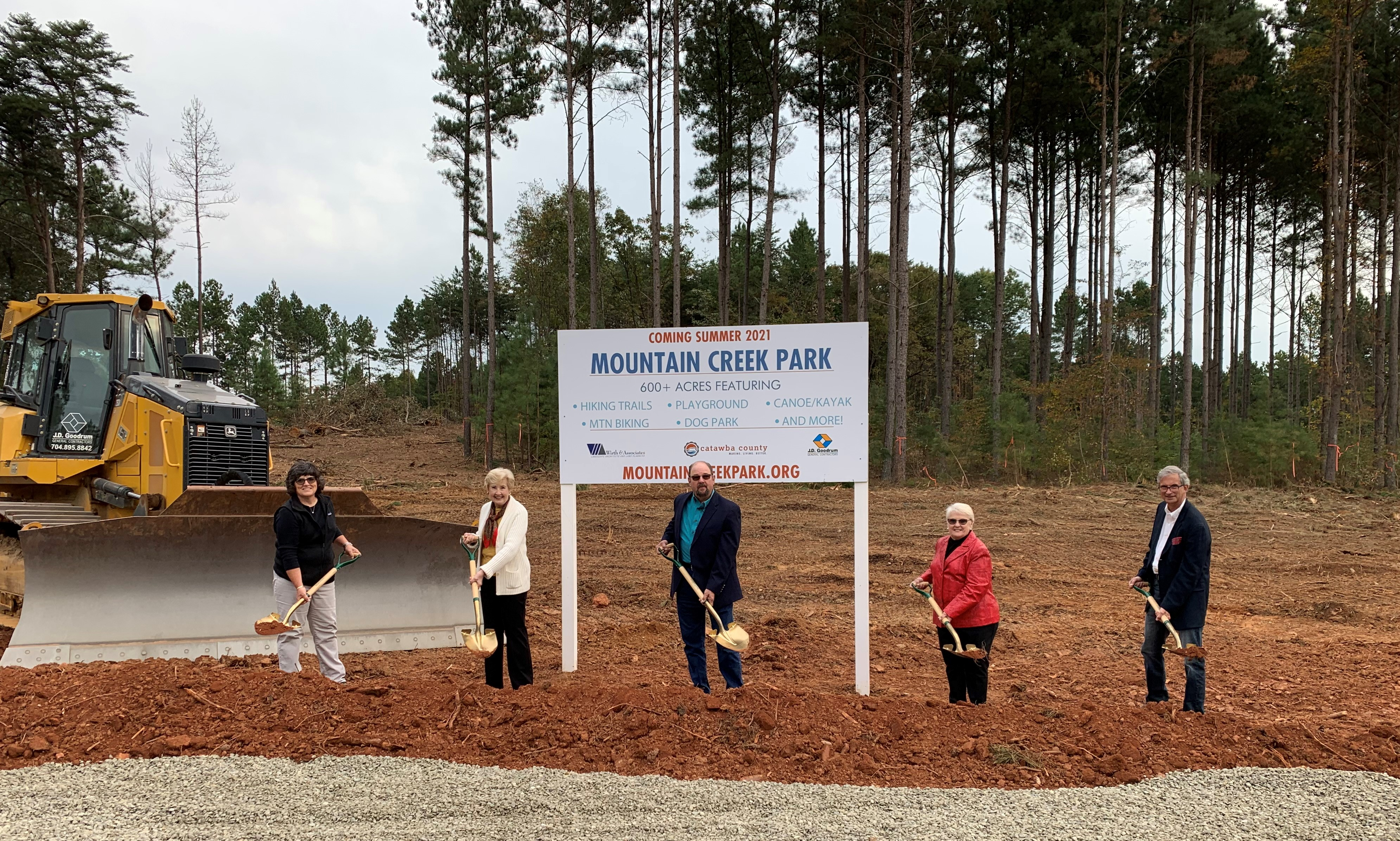 Commissioners Officially Break Ground at Mountain Creek Park